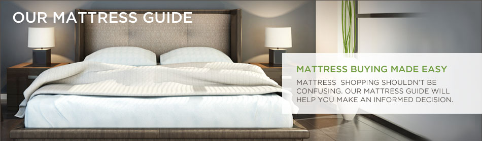 Our Mattress Guide. Mattress Buying Made Easy. Mattress shopping shouldn't be confusing. Our mattress guide will help you make an informed decision.